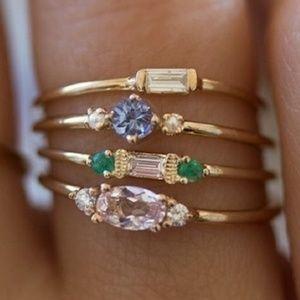 Jewelry - Stacked beautiful zircon rings set of 4